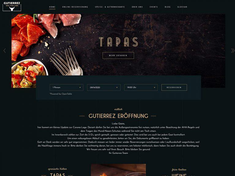 Webdesign - Screenshot GUTIERREZ