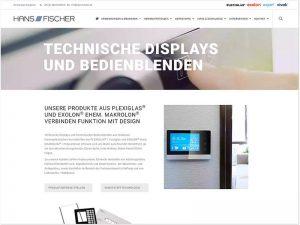 Screenshot Hans Fischer - neues Webdesign nach Relaunch
