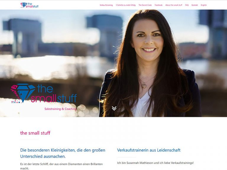 the small stuff: Homepage für Sails-Trainerin